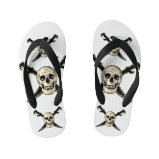Pirata (cráneo) - flips-flopes de encargo,  de