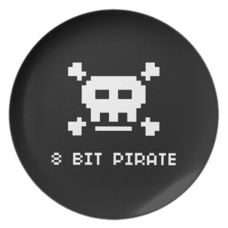 Pirata de 8 pedazos platos de comidas