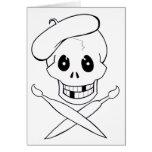 Pirata de Arrrrtist (cráneo y bandera pirata) Tarjeta De Felicitación