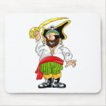 Pirata de balanceo del sable alfombrilla de ratón