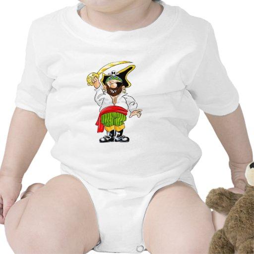 Pirata de balanceo del sable camisetas