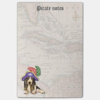 Pirata de Basset Hound Notas Post-it®