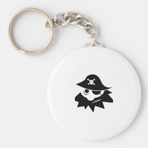 Pirata de Blackbeard del dibujo animado Llavero