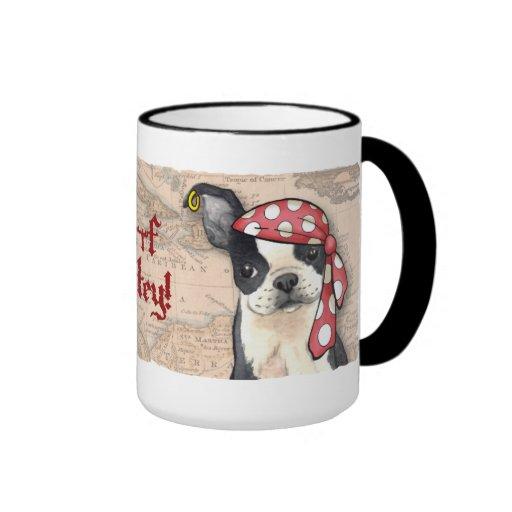 Pirata de Boston Terrier Taza De Café