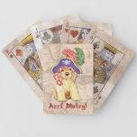 Pirata de cocker spaniel baraja cartas de poker