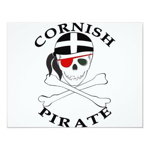 Pirata de Cornualles 1 Invitación 10,8 X 13,9 Cm