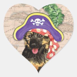 Pirata de GSD Pegatina En Forma De Corazón