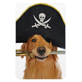 Pirata de Halloween del golden retriever Imán