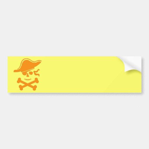 Pirata de Halloween Etiqueta De Parachoque