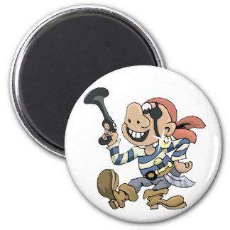 Pirata de la comedia imán redondo 5 cm