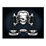 Pirata de la ley tarjeta postal