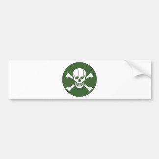 Pirata de la música pegatina de parachoque