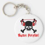 Pirata de la música llaveros