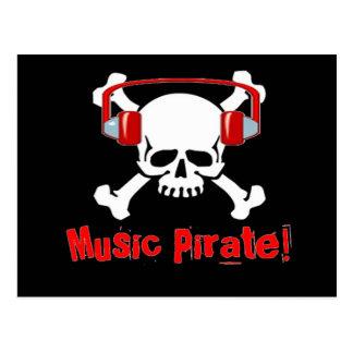 Pirata de la música tarjeta postal