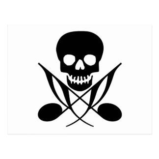 Pirata de la música tarjetas postales