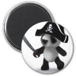 pirata de la panda del bebé 3d imanes para frigoríficos