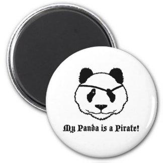 Pirata de la panda imán para frigorífico