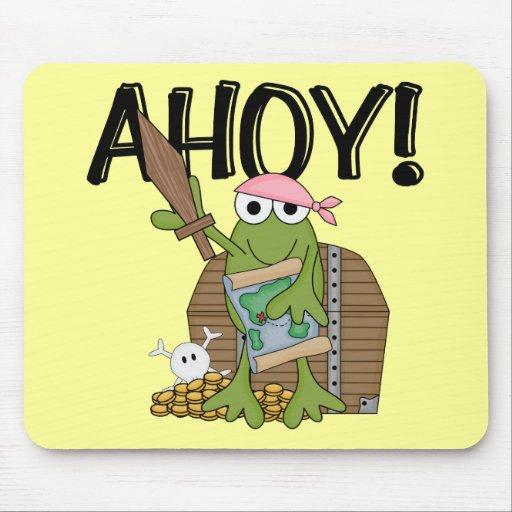 Pirata de la rana con oro - camisetas y regalos de alfombrilla de raton