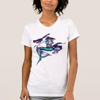 Pirata de la sirena camisetas