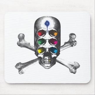 Pirata de los ojos del cráneo 6 mousepad
