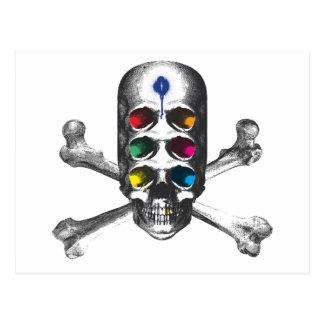 Pirata de los ojos del cráneo 6 tarjeta postal