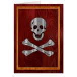 Pirata de madera del metal felicitacion