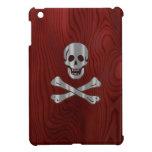 Pirata de madera del metal iPad mini funda