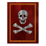 Pirata de madera del metal tarjeta postal