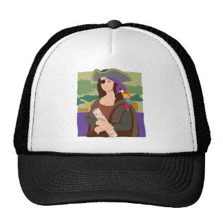 Pirata de Mona Lisa Gorro De Camionero