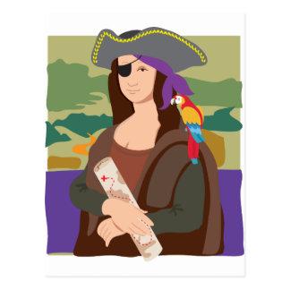 Pirata de Mona Lisa Tarjeta Postal
