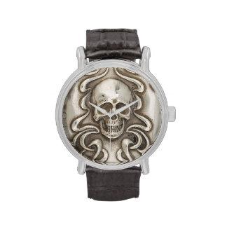 Pirata de plata Antiqued cráneo del gótico de la m