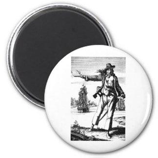 pirata de sexo femenino imán redondo 5 cm