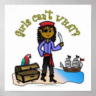 Pirata de sexo femenino oscuro póster