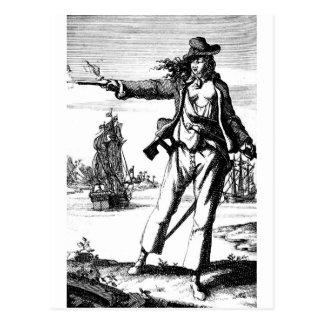 pirata de sexo femenino postales