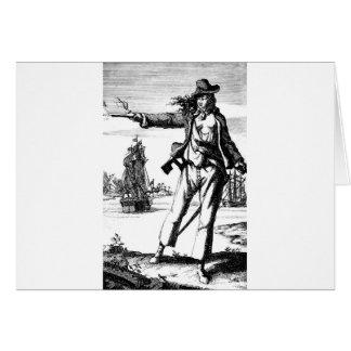 pirata de sexo femenino tarjeta de felicitación