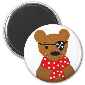 Pirata de Teddybear Imán Redondo 5 Cm
