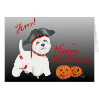 Pirata de Terrier blanco de montaña del oeste Felicitaciones