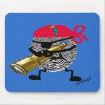 Pirata de Thumbprint Alfombrillas De Ratones