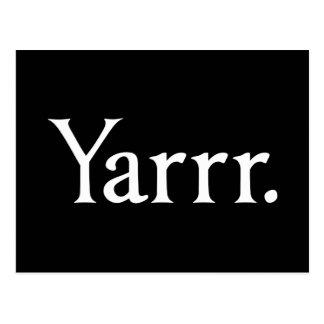 Pirata de Yarrr Postales