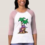 Pirata decidido del chica camisetas