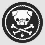 Pirata del barro amasado pegatina