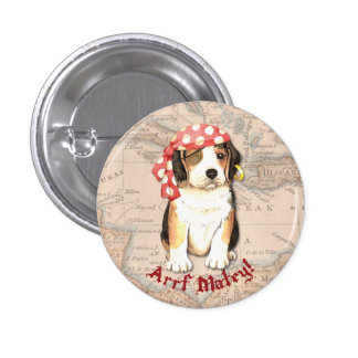 Pirata del beagle pin redondo de 1 pulgada