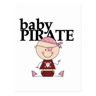 Pirata del bebé - camisetas y regalos del chica postal