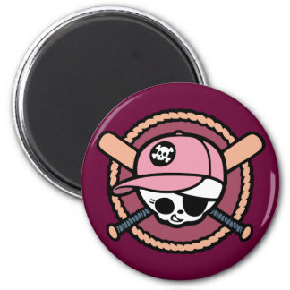 Pirata del béisbol - chicas imán redondo 5 cm