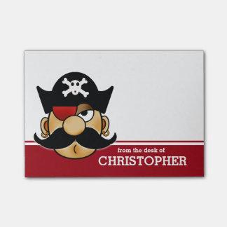 Pirata del bigote personalizado nota post-it