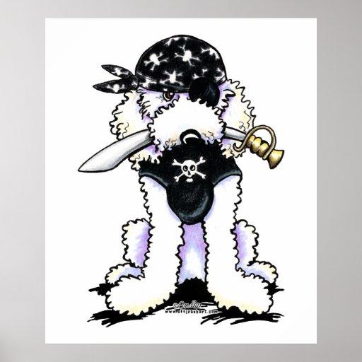 Pirata del caniche impresiones