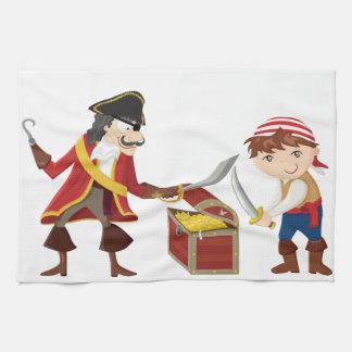Pirata del capitán toalla de mano