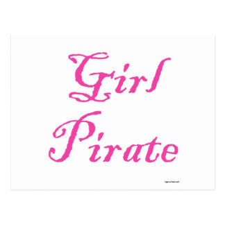 Pirata del chica tarjetas postales
