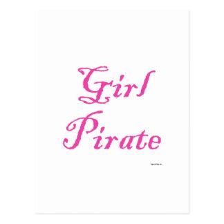 Pirata del chica tarjeta postal