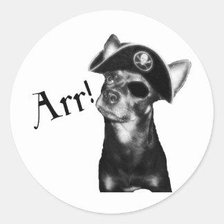 Pirata del chucho de ARR Etiqueta Redonda